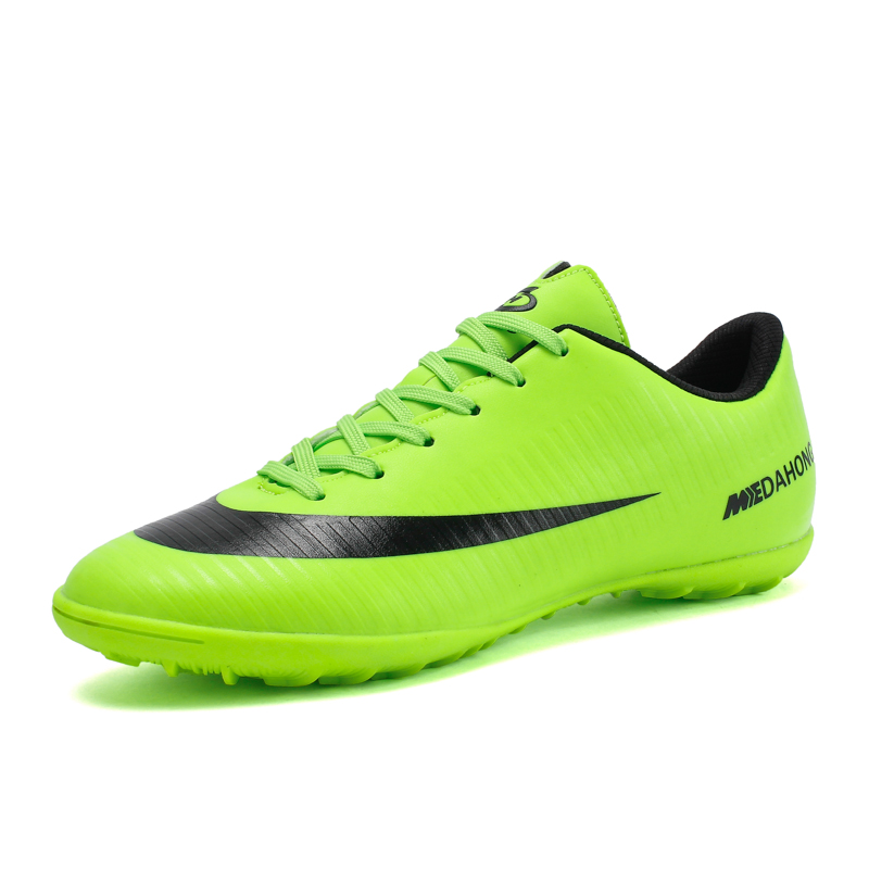 New Adults Men's Football Boots Ankle Top Outdoor FG Sole Soccer Cleats Sports Soccer Shoes High Top Soccer Cleats Boy Sneakers puma powercat 1 12 sl firm ground fg mens soccer cleats