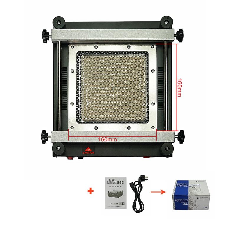 605 W IR senza piombo stazione di preriscaldamento GORDAK 853 con 12x12 cm zona di riscaldamento per PCB bga rilavorazione di riparazione