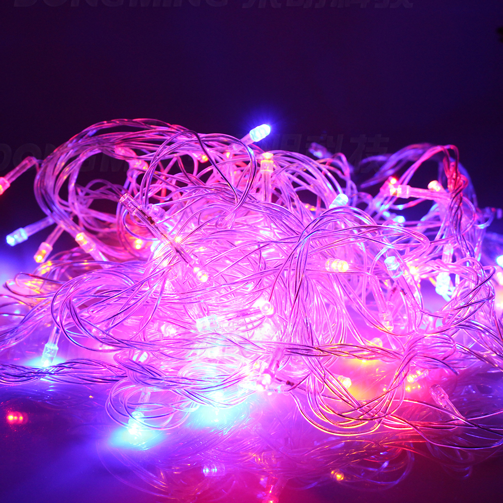on sale led christmas tree light 10m 50leds led string light ac110 220v warm white rgb colorful holiday party light in led string from lights lighting on