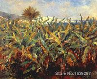 buy canvas paintings Pierre Auguste Renoir reproduction Field of Banana Trees hand painted High quality