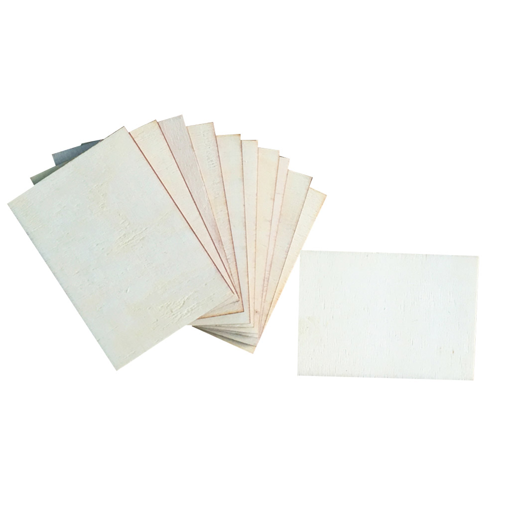 20 Pieces Blank Boards Plywood Sheets For Crafts, Models & Pyrography Wood Plaque Sign DIY Woodburning Materials 70x49mm