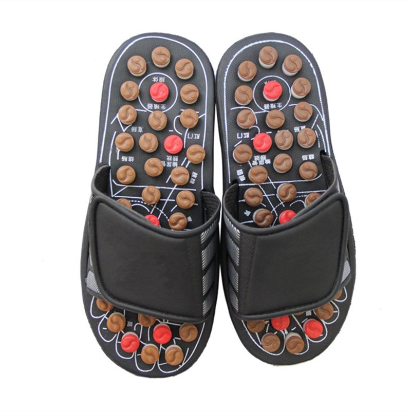 New Massage Shoes Men Summer Slipper Acupoint Healthcare Slipper Health Rotating Accupressure Foot Slippers For Men Women Solid
