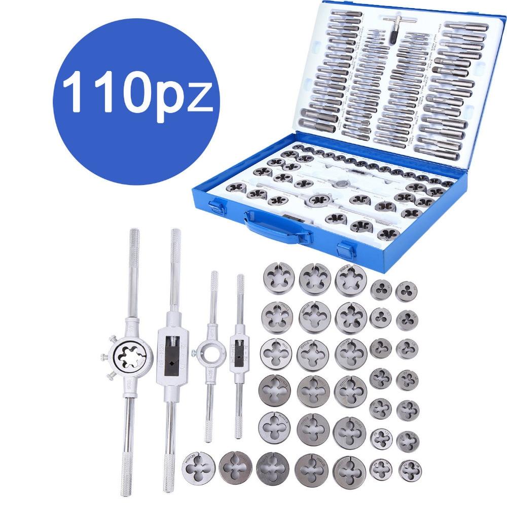 Здесь продается  (Shipping From EU ) 110PCS Thread Cutter Set M2 - M18 Taps Die Cutter Thread Taper Drill Kit  Инструменты