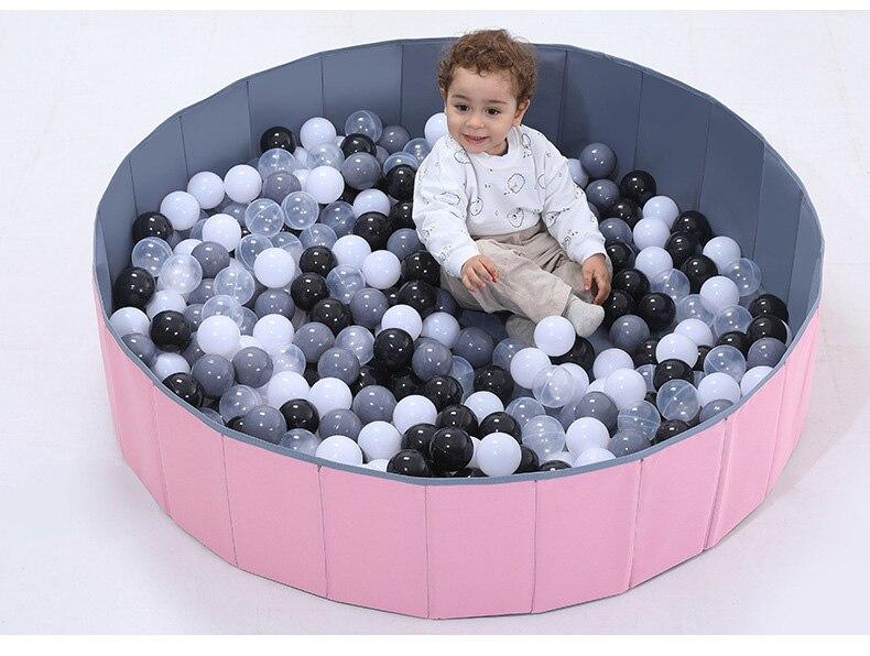 120cm*30cm Baby Ocean Ball Folding Ball Pool Baby Dry Ball Pool  Round Ball Pool Toys For Children Birthday Gift