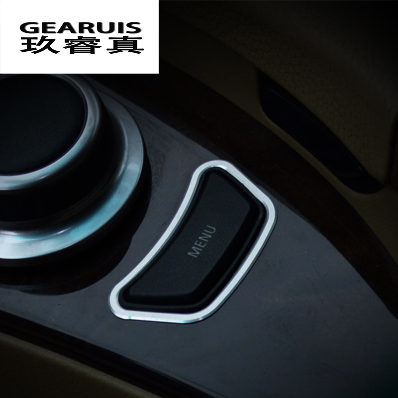 Car <font><b>styling</b></font> <font><b>Interior</b></font> multimedia control panel MENU button decoration Trim Stickers covers for <font><b>BMW</b></font> <font><b>e60</b></font> 5 series auto accessories image