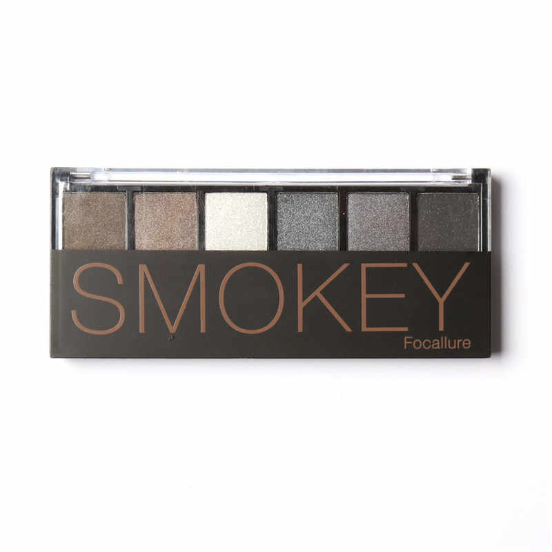 Palette de fard à paupières 6 couleurs maquillage Palette glamour Smokey ombre à paupières couleurs chatoyantes Kit de maquillage par Focallure