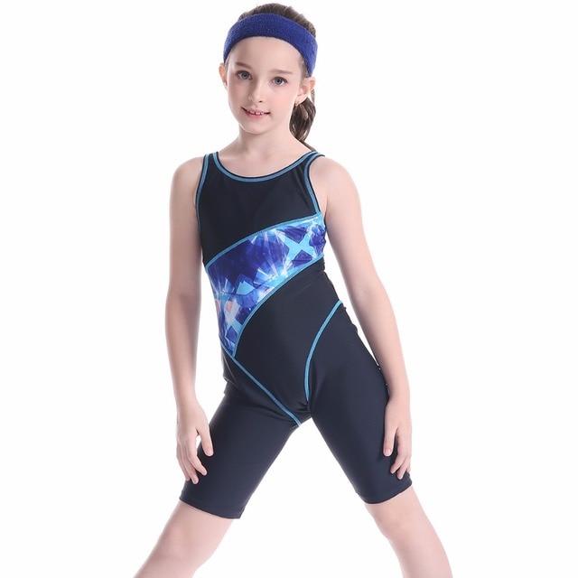 9c4d1e7035b5b Pool Arena competition Girl 2019 Swimsuit One Piece Swimwear Child Bodysuit Swim  Bathing Suit Kids Beach Wear Bikinis Set Blue
