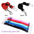 Hot Sell Adjustable Dog Seat Belt Pet Dog Travel Seat Belt Clip Lead Restraint Harness Auto traction dog leash 5 Colors