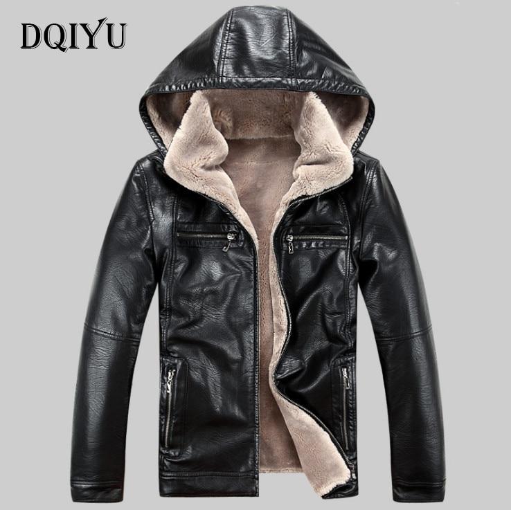 2018 Date De Mode En Cuir Veste Hommes D'hiver Épaissir En Cuir Vestes Manteaux Coupe-Vent Veste Mâle Jaqueta Couro Masculina 5XL