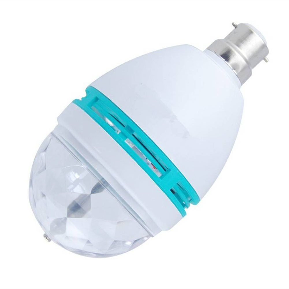 B22 3w Rgb Crystal Ball Rotating Led Stage Light Bulbs Disco Lamp Newest In Stage Lighting