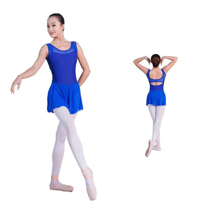 Matte lycra with mesh adult ballet skirted leotard, ballet skirt ballerina dance skirt, ballet dress