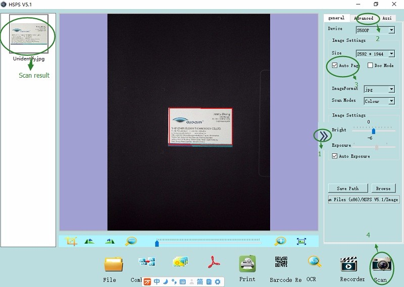 portable document scanner
