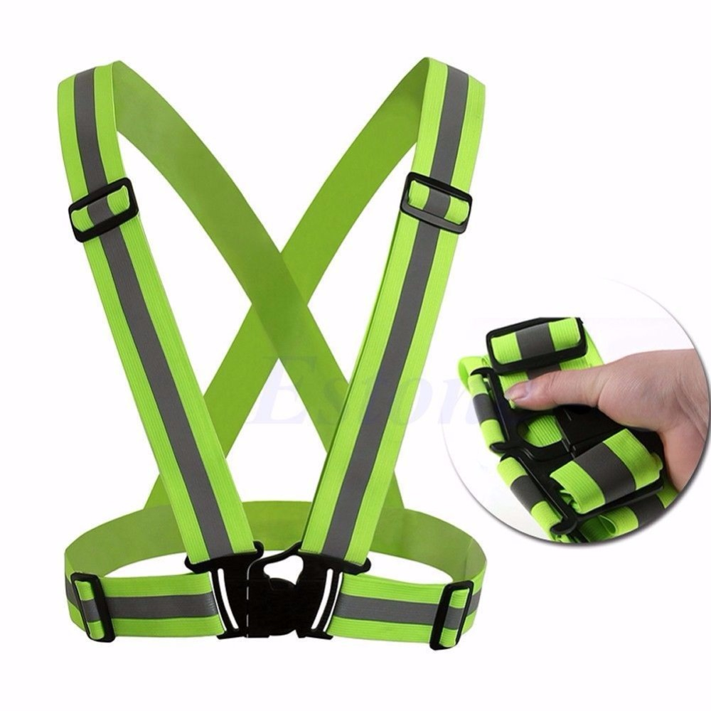 Adjustable Safety Security High Visibility Reflective Vest Gear Stripes