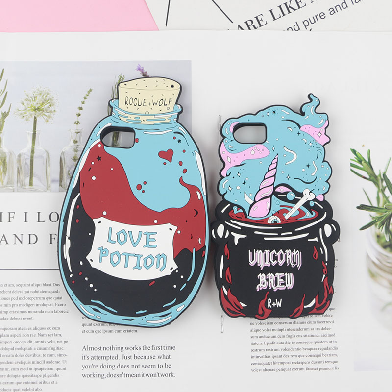 Galleria fotografica Love Potion Jars Bottle Case for iPhone 6 6s 7 8 Plus X XR XS Max Phone Back Silicon Cover