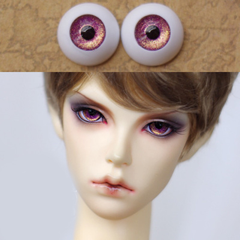 Golden purple  bjd doll eyes  for BJD Dolls toys sd eyeball for 1/3 1/4 1/6 8mm 14mm 16mm 18mm 20mm Acrylic EYEs for dolls handmade chinese ancient doll tang beauty princess pingyang 1 6 bjd dolls 12 jointed doll toy for girl christmas gift brinquedo