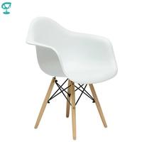 94898 Barneo N 14 Plastic Kitchen Breakfast Interior Stool Bar Chair Kitchen Furniture White free shipping in Russia