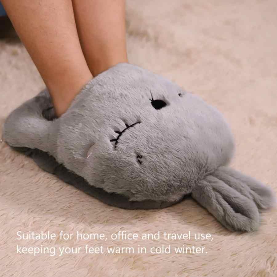Электрическая теплая грелка для ног теплые розовые Тапочки с рисунком кролика, USB Подставка-обогреватель для ног, теплые тапочки для компьютера