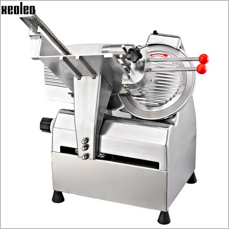 Xeoleo Commercial 10 inch Automatic Meat Slicer Machine,Frozen Slicer,Aluminium-magnesium Alloy Material Cutter