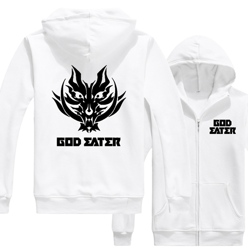 Winter Coat God Eater Thicken Jacket Anime Hoodie Cosplay Sweater JP Unisex Logo