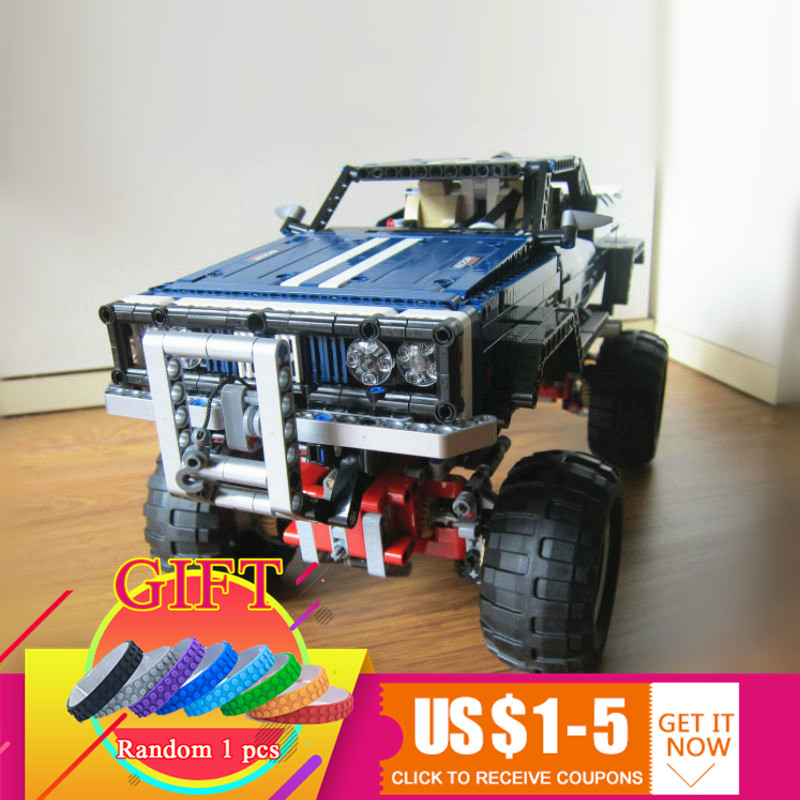 20011 1605pcs Technical remote control electric off-road vehicles set building block toys compatible with 41999 lepin lepin 20011 1605 pcs super classic limited edition of off road vehicles model building blocks bricks compatible toy 41999