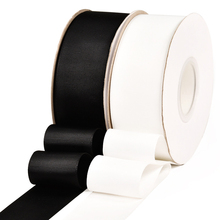 Black White Off Grosgrain Ribbon Single Double Face 100% Polyester Satin Tape ECO-Friendly 19 Size DIY Craft Accessories