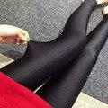 Fashion black shine Leggings Womens Leggins Sexy fitness Legging Slim Punk Rock plus size Legins Elastic Bandage Femme Pants
