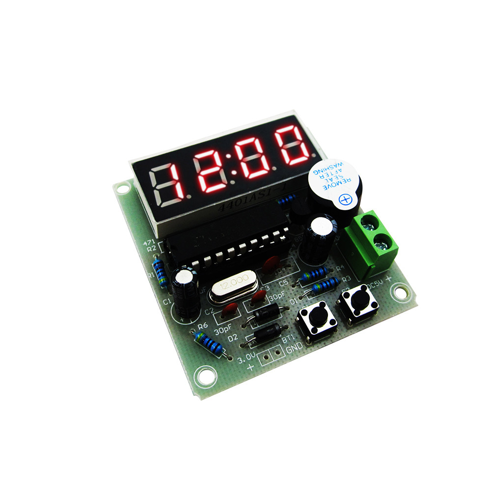 1set High Quality C51 4 Bits Electronic Clock Electronic Production Suite DIY Kits diy with black case metal detector electronics suite electronic production of bulk production