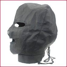 Fetish Slave Leather Mask for sissies
