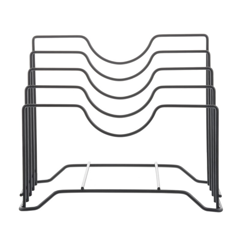 Image 5 - Junejour 1pc Kitchen Storage Holder Plate Drainer Rack Pan Rack Cutting Board  Storage Shelf  Pot Lid Organizer Stands Iron Dish-in Storage Holders & Racks from Home & Garden