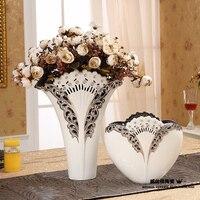 Домашняя декоративные изделия белый фарфор plum ваза алмазные украшения европейская семья украшения свадебный подарок