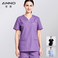 ANNO Medical Clothing for Women Dentistry Work Wear Medical Scrubs for Nurse Uniforms Surgical Suit for Female Slim fit