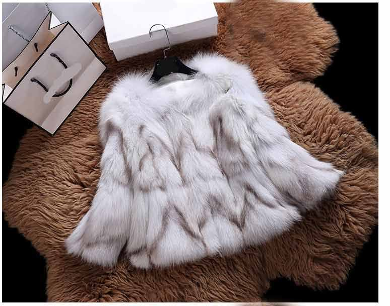 Real natural genuine fox fur coat women fashion fur jacket ladies over coat outwear