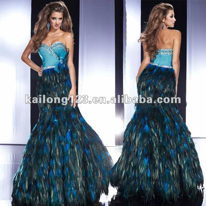 Aliexpress.com : Buy Sparkle Sweetheart Bow Beaded Mermaid Blue ...