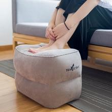 Inflatable Height Adjustable Kids Flight Footrest Pillow Two Valves Design Travel Foot Pad Rest