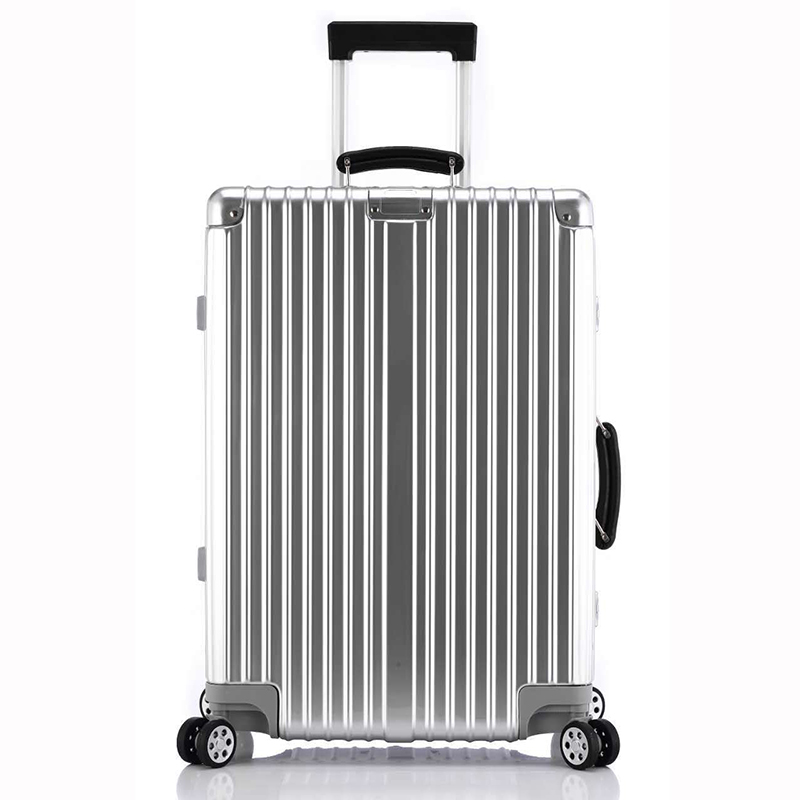 "20""24""26""28"" Vintage Rolling Hardside Luggage TSA Lock Travel Trolley Suitcase With Wheels Leather Handles Custom mala de viagem"