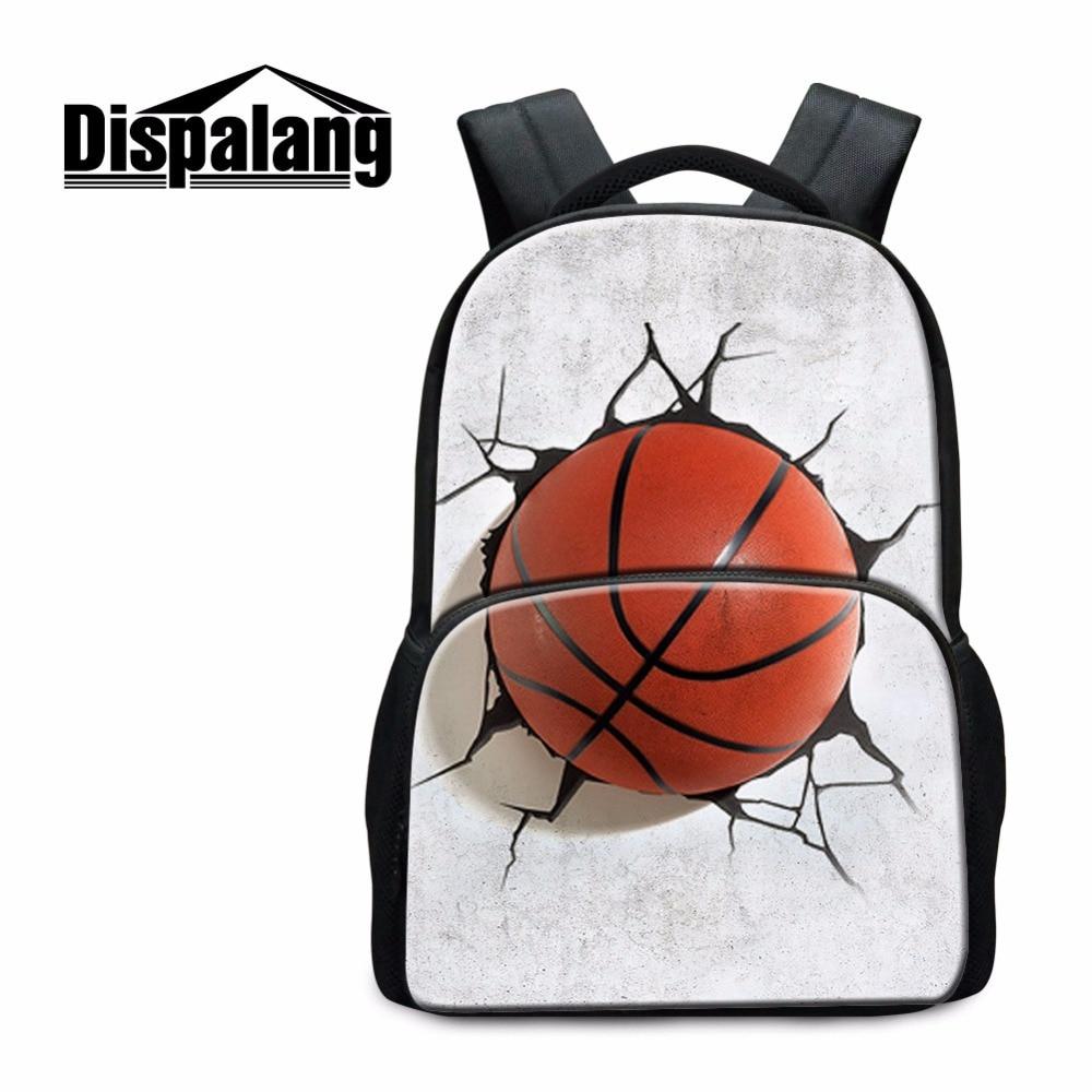 Dispalang School Backpack for Teen Boys Footbally Bookbags Basketballi Rucksacks for Children Primary students Bagpack Mochilas