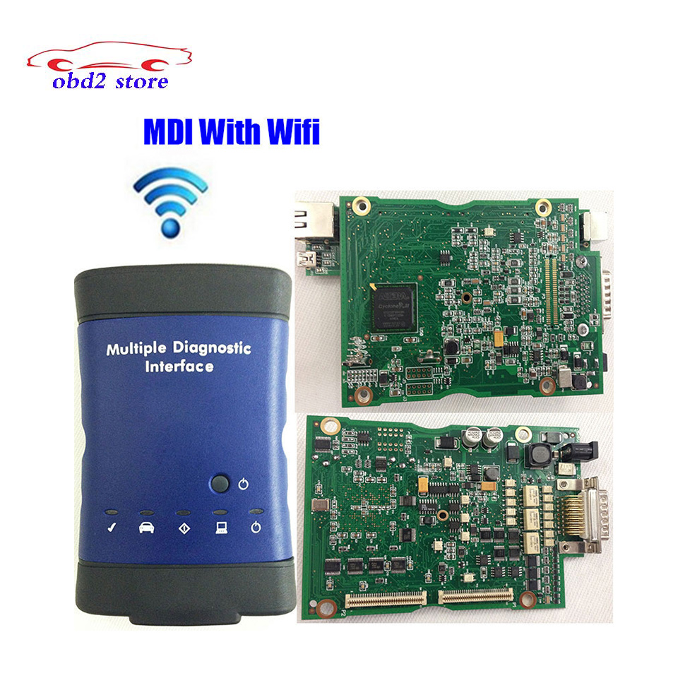 Auto Scanner MDI opel Wifi Multiple Diagnostic Interface G-M Mdi OBD2 OBDII  Scanner Without Software Real Car Diagnostic-Tool