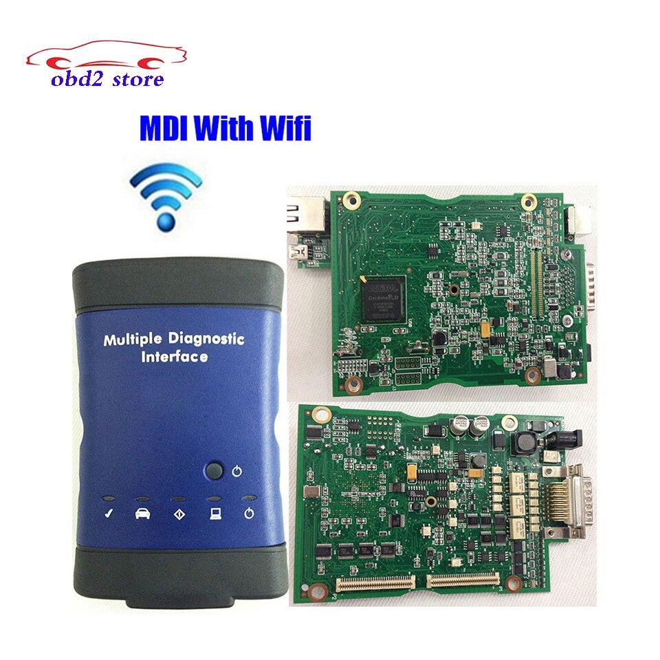 Auto Scanner MDI opel Wifi Multiples interface de Diagnostic G-M Mdi OBD2 Scanner obdii Sans Logiciel Vraie Voiture De Diagnostic-Outil