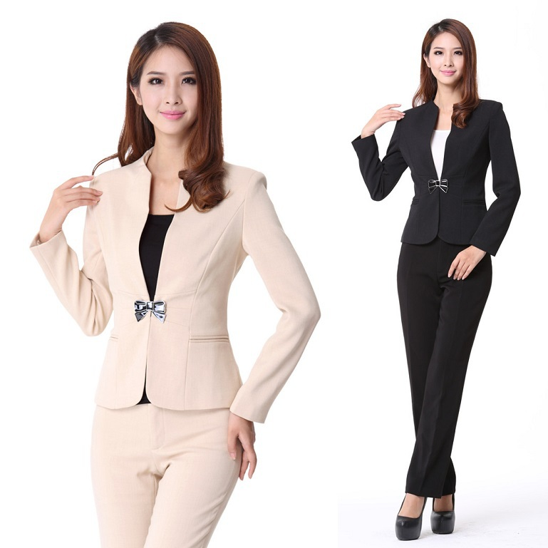 2015 Autumn Formal Pant Suits Women Blazers Pants Sets Winter Fashion Ladies Uniforms Workwear Slim - Kidmall Online Store store