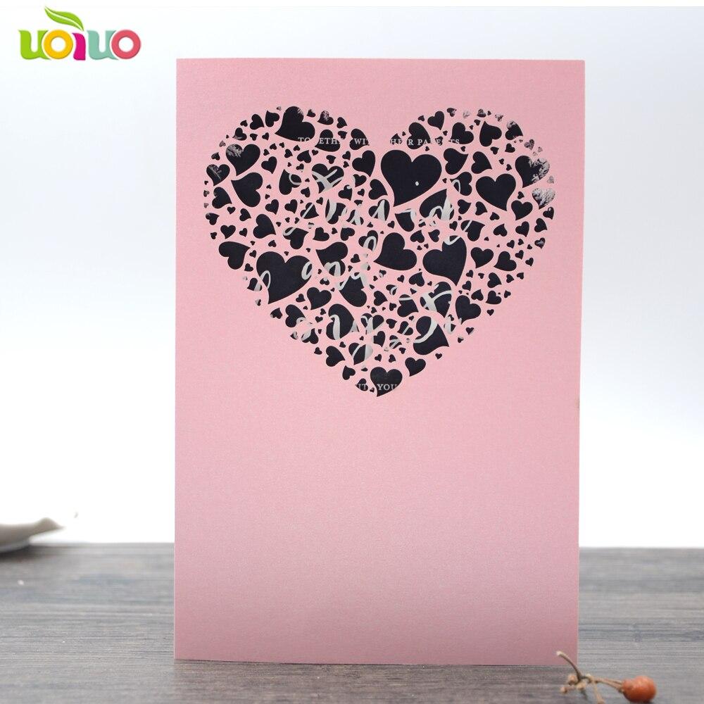 diy customzied inc177 europe wedding invitations card silver heart