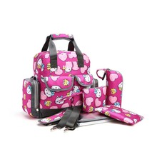 New Printing Waterproof Mummy Bag Waiting For Storage Large Capacity Shoulder Multi-Function Maternity Five-Piece