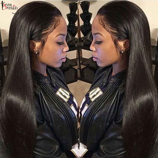 250% Density Lace Front Human Hair Wigs Peruvian Virgin Hair Front Lace Wigs Straight Full Lace Human Hair Wigs For Black Women