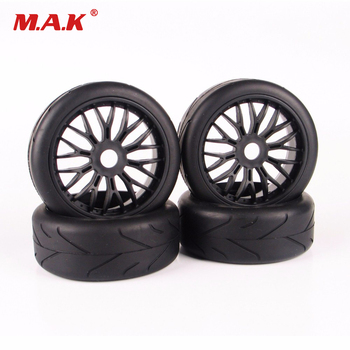 1/8 scale car off-road rubber tires and wheel rim model toys for HPI HSP Traxxas RC car buggy toys accessories parts 2020 4pcs 2pcs 150mm wheel rim and tires for 1 8 monster truck traxxas hsp hpi e maxx savage flux racing rc car accessories hot