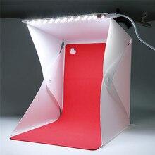Profissional Acessórios Dobrável Portátil Mini Photo Studio Box Fotografia Portátil Iluminação Cenário Luz embutida Foto
