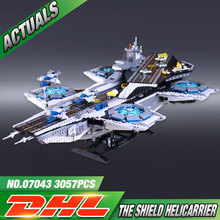 Lepin 07043 Super Heroes The Shield Helicarrier Model Building Kits Mini Figure Blocks Bricks Toys Compatible Legeod76042