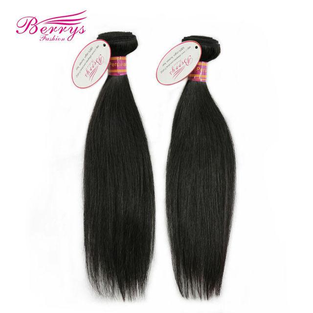 Berrys Fashion Hair Peruvian virgin hair straight  8a, 2pcs/lot  (8inch-34inch) Unprocessed Hair Machine Wefts Soft bundle hair