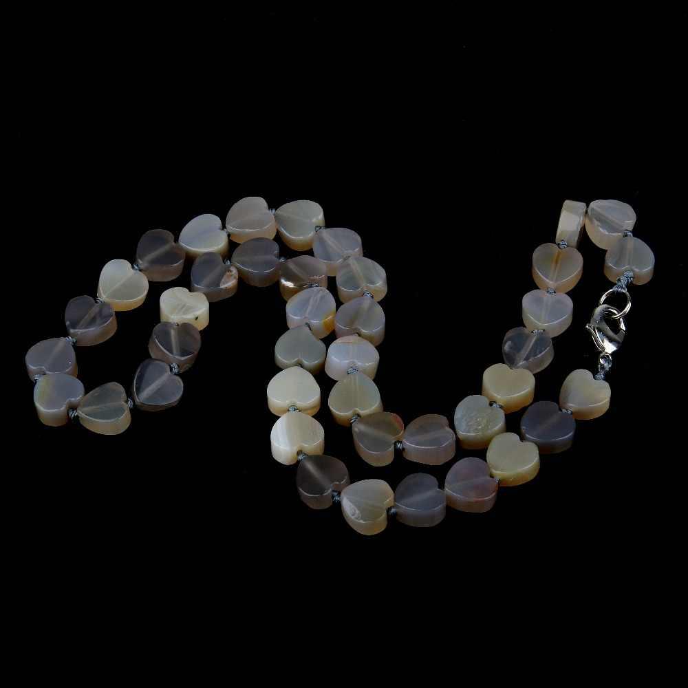 Wholesale Natural Stone Necklace Agates Necklace Quartz Stone Necklace  10x10mm 18 inches