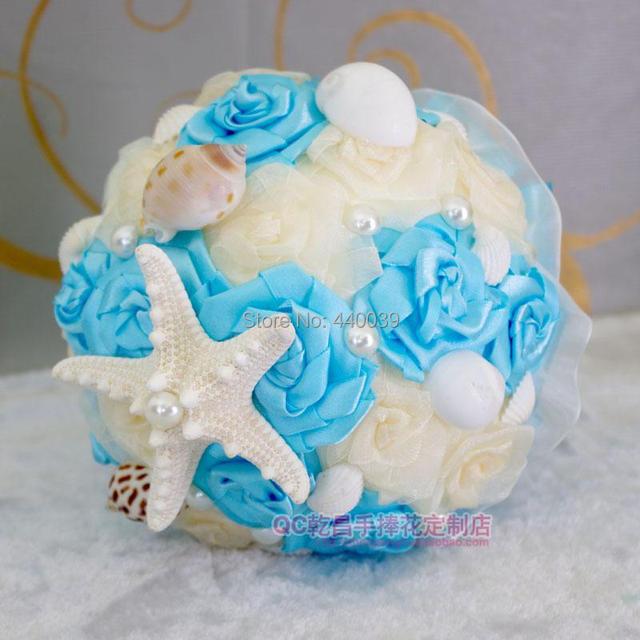 Bridal hand bouquet Flower wedding Beach shell Bouquet Jewelry buque de noiva Bridesmaids Wedding Bouquet FW185