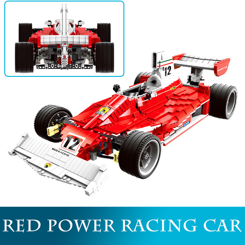 Xingbao 03023 2405PCS Red Power Racing Car Building Blocks DIY F1 Model Go kart Blocks Educational Toys As Christmas Gifts
