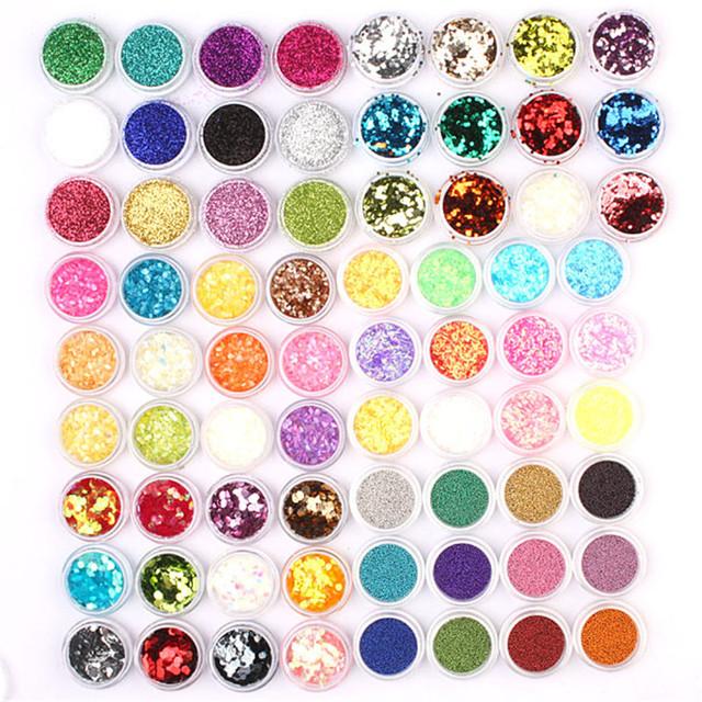 72 pc Acrílico UV Gel Nail Art Glitter Em Pó Por Atacado #306